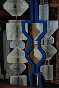 Art Mobiles Originals - Blue And White by Rob Hans