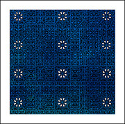 Tile Digital Art - Blue and White Tile by Bonnie Bruno