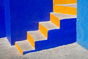 Urban Scenes Art - Blue and Yellow by Eggers   Photography