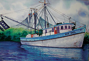 Shrimp Boat Paintings - Blue Angel by Chuck Creasy