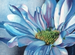 Colored Flowers Painting Posters - Blue Poster by Angela Armano