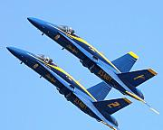 Aviation Images Posters - Blue Angels 1 and 2 Poster by Wingsdomain Art and Photography