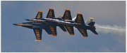 Blue Angel Photos Posters - Blue Angels 2 Poster by Michelle Faulkner