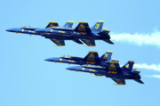 Jet Posters - Blue Angels 4 Team Formation 2 Poster by Wingsdomain Art and Photography