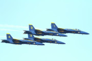 Jet Prints - Blue Angels 4 Team Formation 4 Print by Wingsdomain Art and Photography