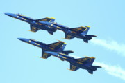 Jet Posters - Blue Angels 4 Team Formation Poster by Wingsdomain Art and Photography
