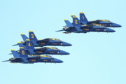Jet Prints - Blue Angels 5 Team Formation 3 Print by Wingsdomain Art and Photography