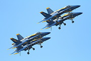 Jet Prints - Blue Angels F-18 Super Hornet . 7D7978 Print by Wingsdomain Art and Photography