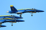 Jet Posters - Blue Angels F-18 Super Hornet . 7D7985 Poster by Wingsdomain Art and Photography