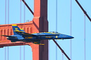 Jet Prints - Blue Angels F-18 Super Hornet . 7D8045 Print by Wingsdomain Art and Photography