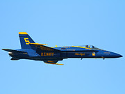 Blue Angels F-18 Super Hornet . 7d8049 Print by Wingsdomain Art and Photography