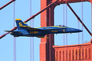 Blue Angels Framed Prints - Blue Angels F-18 Super Hornet . 7D8055 Framed Print by Wingsdomain Art and Photography