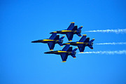 Formation Flying Posters - Blue Angels Flying In Formation Poster by Stocktrek Images