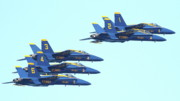 Jet Prints - Blue Angels Hornet F18 Supersonic Jet Airplane . 7D2656 Print by Wingsdomain Art and Photography