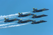 Air Plane Photo Prints - Blue Angels Print by Sebastian Musial