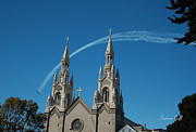 Crosses Photos - Blue Angels Soaring by Suzanne Gaff