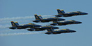 Samuel Sheats Posters - Blue Angels Take 6 Poster by Samuel Sheats