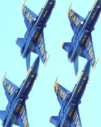 Jet Prints - Blue Angels Traffic Jam Print by Wingsdomain Art and Photography