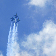 Flying Photos - Blue Angles by Mike McGlothlen