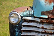 Kayecee Spain Acrylic Prints - Blue Antique Chevy Grill- Fine Art Acrylic Print by KayeCee Spain
