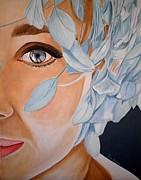 Blue Audrey Print by Al  Molina