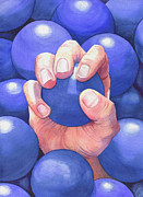 Fingernails Framed Prints - Blue Balls Framed Print by Catherine G McElroy