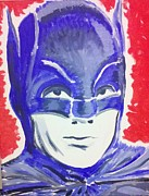 Caped Crusader Prints - Blue Batman Print by Ronald Greer