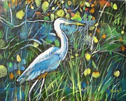 Wildlife Painting Prints - Blue Bayou Print by Judy Kay