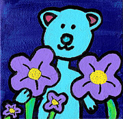 Safe Paintings - Blue Bear by Jera Sky