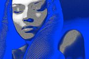 Blue Beauty Print by Naxart Studio
