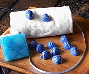 Handmade Art - Blue Berries Mini Soaps by Anastasiya Malakhova
