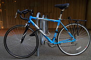 Rack Prints - Blue Bicycle . 7D10157 Print by Wingsdomain Art and Photography