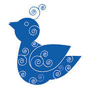Whimsy Posters - Blue Bird Poster by Frank Tschakert