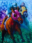 Horse Jumping Paintings - Blue Bloods by Marion Rose