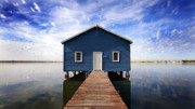 Florida House Photo Originals - Blue Boat House by David Blakley