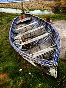 Peter Daltrey Art - Blue Boat by Peter Daltrey