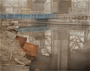 Blue Bridge Print by Stefan Beltzig