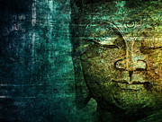 Budhism Prints - Blue Buddha Print by Claudia Moeckel