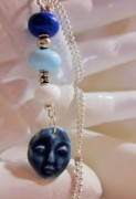 Earrings Photo Originals - Blue Buddha Necklace by Janet  Telander