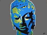 Blue Buddha  Print by Nickie Mantlo