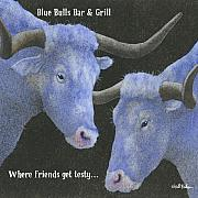 Cocktail Photography Acrylic Prints - Blue Bulls Bar and Grill... Acrylic Print by Will Bullas