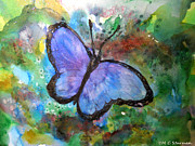 Gardener Mixed Media - Blue Butterfly by M C Sturman