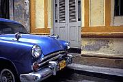 Havanna Framed Prints - Blue Car Framed Print by Marcus Best
