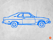 Timeless Design Prints - Blue car Print by Irina  March