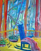 Outlook Paintings - Blue Chair on the Blue Ridge by Patricia Taylor