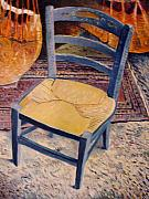 Enver Larney Art - Blue Chair Provence France 2004 by Enver Larney