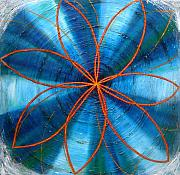Metaphysics Prints - Blue Chakra Print by Anne Cameron Cutri
