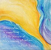 Motivational Painting Originals - Blue Chasm Imagination by Audi Swope