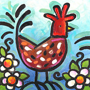 Barnyard Originals - Blue Chicken by Renee Womack