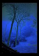 Puddle Posters - Blue Chill Poster by Jon Palm